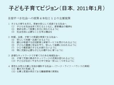 子ども子育てビジョン(日本,2011年1月)