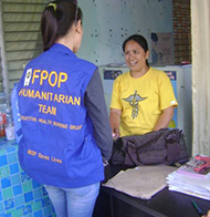 FPOP医療チームの派遣準備(イロイロ州)