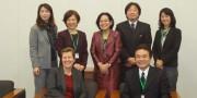 UNFPA、ジョイセフ、NUPRIの代表(前列向かって左がアン・ブリジット・アルブレクトソンUNFPA事務局次長)