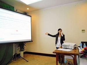 ジョイセフ・プロジェクトマネージャーによるプロジェクトの説明。