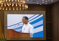 開会の辞を述べるサイ・モック・カム副大統領、保健への更なる投資のコミットメントを表明(この日テイン・セイン大統領はザガイン州に水害状況の視察のため副大統領が代読)