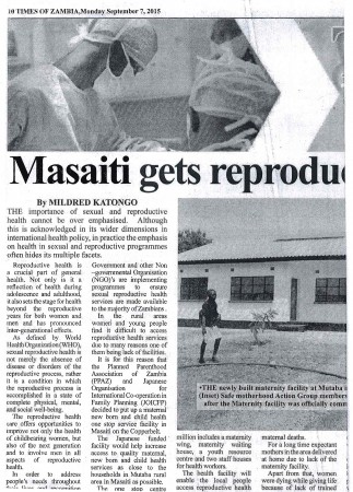 NEWSPAPER CUTTING (times of Zambia)-2