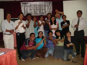 若者リーダーを中心に映像制作の技術研修