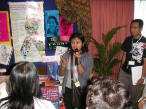 ポスターセッションでは、国ごとに自分たちの活動やツールについて発表。
