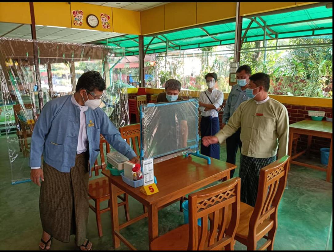 ミャンマーの地域保健のために働くエイナインさん